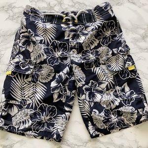 Gymboree boys floral aloha swim shorts 7